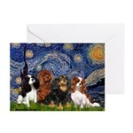 Starry / 4 Cavaliers Greeting Cards (Pk of 20)