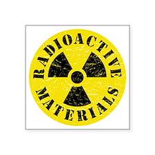 "Radioactive Materials Square Sticker 3"" x 3"""