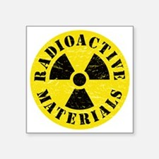 "Radioactive Materials Square Sticker 3"" x 3"""