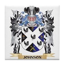 Johnson- Coat of Arms - Family Crest Tile Coaster