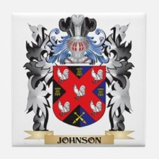 Johnson Coat of Arms - Family Crest Tile Coaster