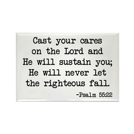Psalm 55:22 Rectangle Magnet
