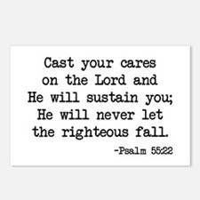 Psalm 55:22 Postcards (Package of 8)