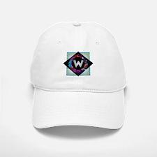 W - Letter W Monogram - Black Diamond W - Lett Baseball Baseball Cap