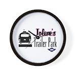 Jolene's Trailer Park Retro Wall Clock