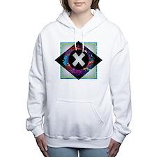 X - Letter X Monogram -  Women's Hooded Sweatshirt