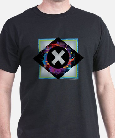 X - Letter X Monogram - Black Diamond X - T-Shirt