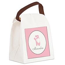 Team Pointe Pink Monogram Canvas Lunch Bag