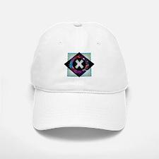 X - Letter X Monogram - Black Diamond X - Lett Baseball Baseball Cap