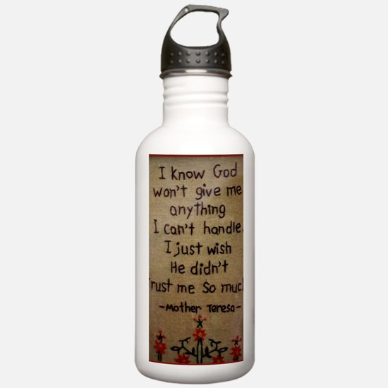 Funny Faith quote Water Bottle