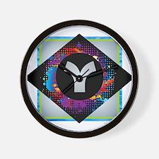 Y - Letter Y Monogram - Black Diamond Y Wall Clock