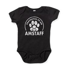 Protected By An AmStaff Baby Bodysuit