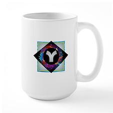 Y - Letter Y Monogram - Black Diamond Y - Let Mugs