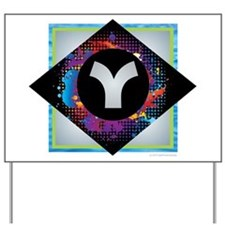Y - Letter Y Monogram - Black Diamond Y Yard Sign