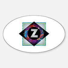Z - Letter Z Monogram - Black Diamond Z - Decal