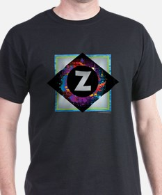 Z - Letter Z Monogram - Black Diamond Z - T-Shirt