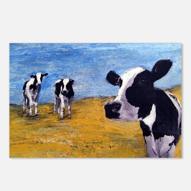 Cow World Postcards (Package of 8)