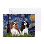 Starry Cavalier Pair Greeting Card