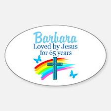 LOVING 65TH Sticker (Oval)