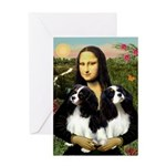 Mona's 2 Cavaliers Greeting Card