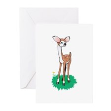 Silly Baby Fawn Greeting Cards (Pk of 20)