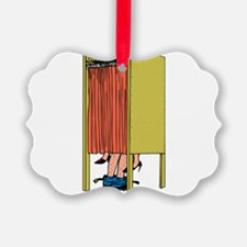 Voting Booth Ornament
