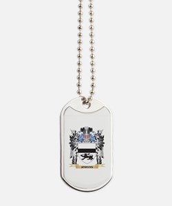 Jordan Coat of Arms - Family Crest Dog Tags
