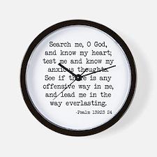 Psalm 139:23-24 Wall Clock