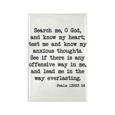 Psalm 139:23-24 Rectangle Magnet