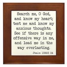 Psalm 139:23-24 Framed Tile