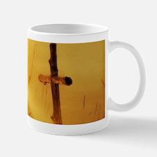 inspirational sunrays golden cross Mugs