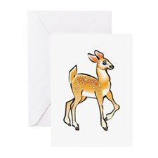 Cute Baby Deer (Fawn) Greeting Cards (Pk of 20)