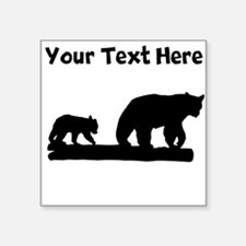 Bear And Cub Silhouette Sticker