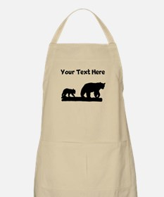 Bear And Cub Silhouette Apron