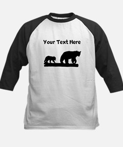 Bear And Cub Silhouette Baseball Jersey