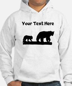 Bear And Cub Silhouette Hoodie