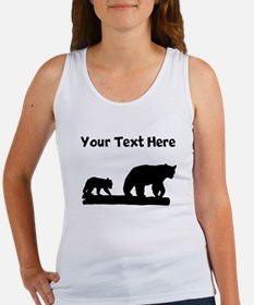 Bear And Cub Silhouette Tank Top