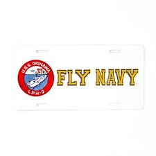 LPH-3 USS Okinawa Aluminum License Plate