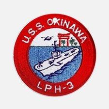LPH-3 USS Okinawa Ornament (Round)
