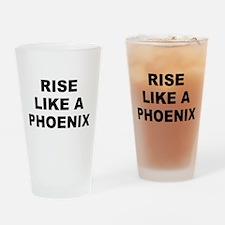 Rise Like A Phoenix Drinking Glass