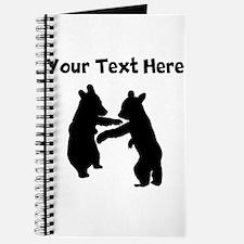 Bear Cubs Silhouette Journal