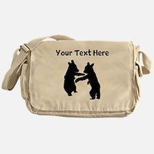 Bear Cubs Silhouette Messenger Bag