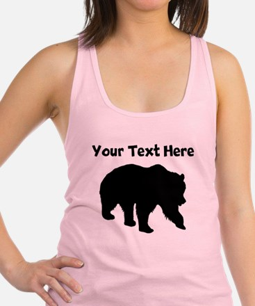 Grizzly Bear Silhouette Racerback Tank Top