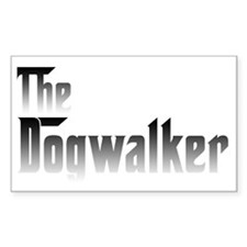 Dogwalker Rectangle Decal
