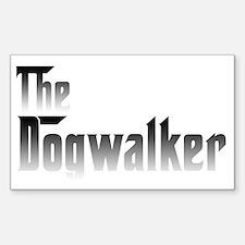 Dogwalker Rectangle Decal