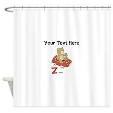 Custom Zoom Bear Shower Curtain