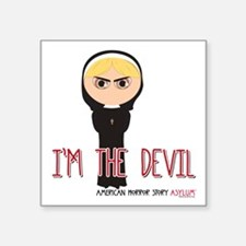 "American Horror Story Chibi Square Sticker 3"" x 3"""