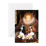 The Queens Cavalier Pair Greeting Cards (Pk of 20)