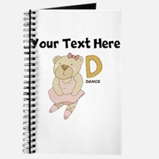 Custom Dance Bear Journal