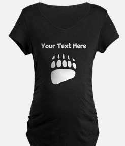 Bear Claw Print Silhouette Maternity T-Shirt